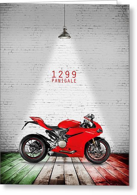 Ducati 1299 Panigale Greeting Card by Mark Rogan