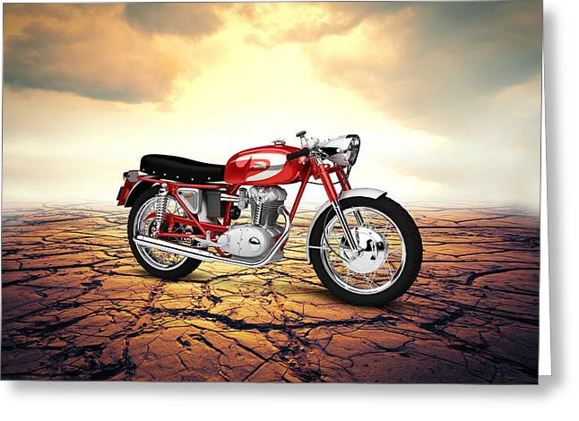 Mach Digital Art Greeting Cards - Ducati 250 Mach 1 1964  Desert Greeting Card by Aged Pixel
