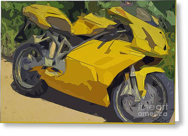 Ducati 749 Men's Cave Greeting Card by Pablo Franchi