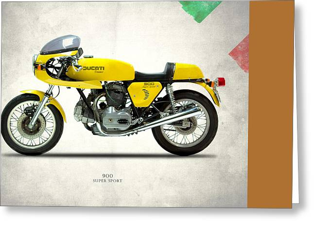 Motorcycles Greeting Cards - Ducati 900 Super Sport 1977 Greeting Card by Mark Rogan