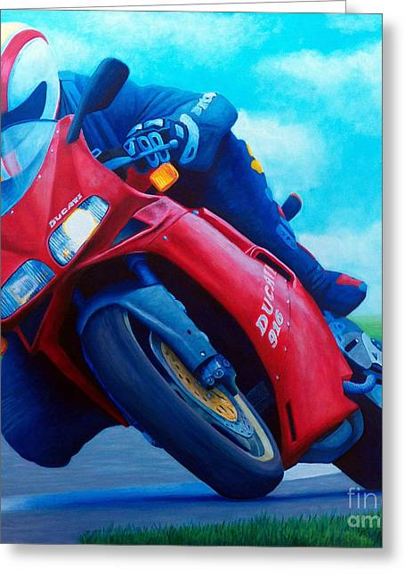 Motorcycle Greeting Cards - Ducati 916 Greeting Card by Brian  Commerford