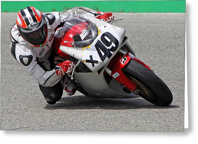 Ducati Cornering Greeting Card by Shoal Hollingsworth