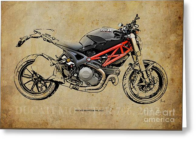 Ducati Monster 796 2013 Greeting Card by Pablo Franchi