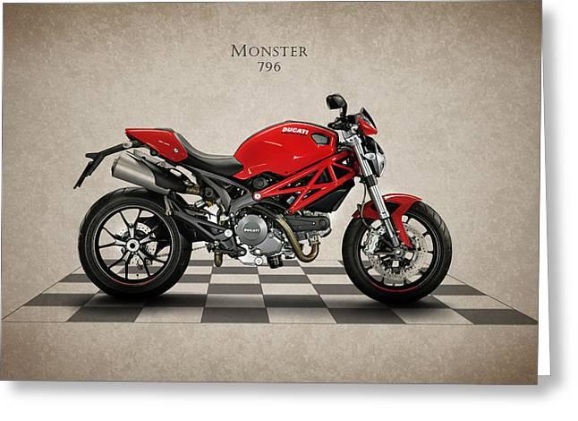 Ducati Monster 796 Greeting Card by Mark Rogan