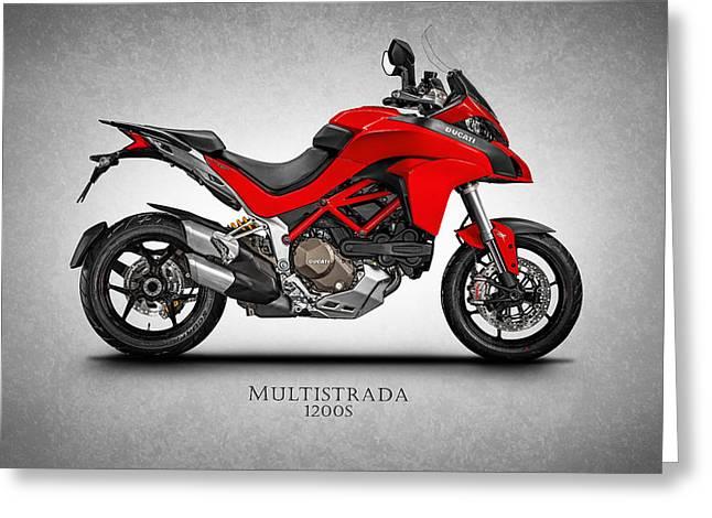 Ducati Multistrada Greeting Card by Mark Rogan