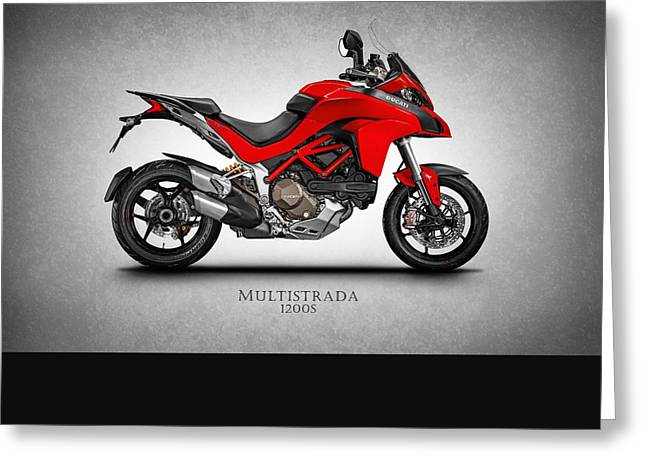 Italy Photographs Greeting Cards - Ducati Multistrada Greeting Card by Mark Rogan