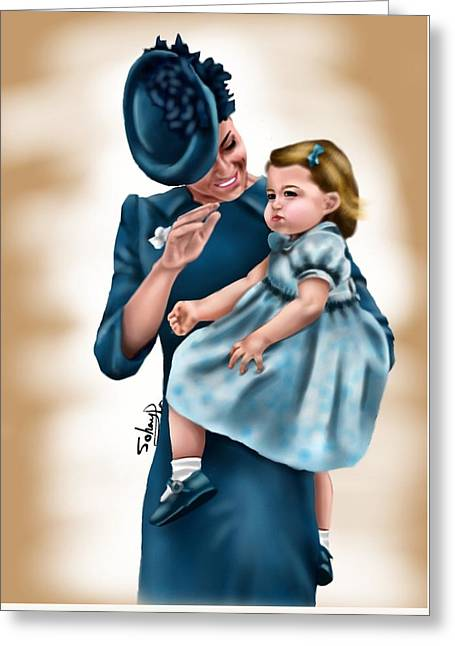 Duchess Of Cambridge  Greeting Card by Sohayla Meccawy
