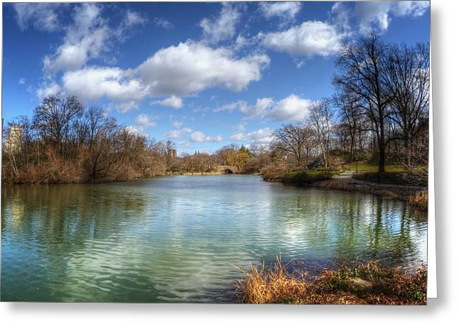 Duck Pond On A Beautiful Day Greeting Card by Vicki Jauron