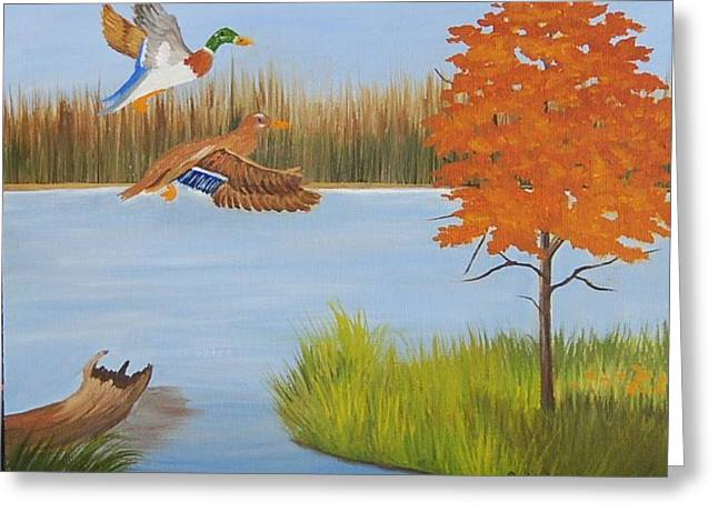Ruth Housley Greeting Cards - Duck Season SOLD Greeting Card by Ruth  Housley