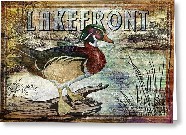 Mallard Paintings Greeting Cards - Duck Sign II Greeting Card by Paul Brent