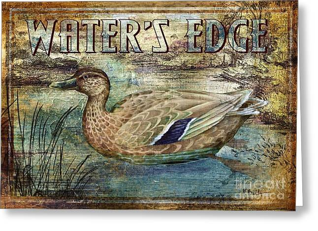 Mallard Paintings Greeting Cards - Duck Sign III Greeting Card by Paul Brent