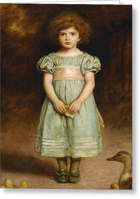 Pre-19th Greeting Cards - Ducklings Greeting Card by John Everett Millais