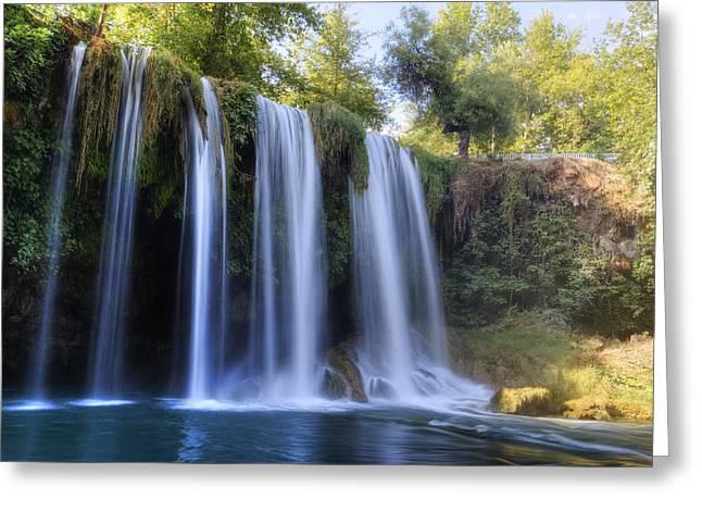 Duden Waterfall - Turkey Greeting Card by Joana Kruse