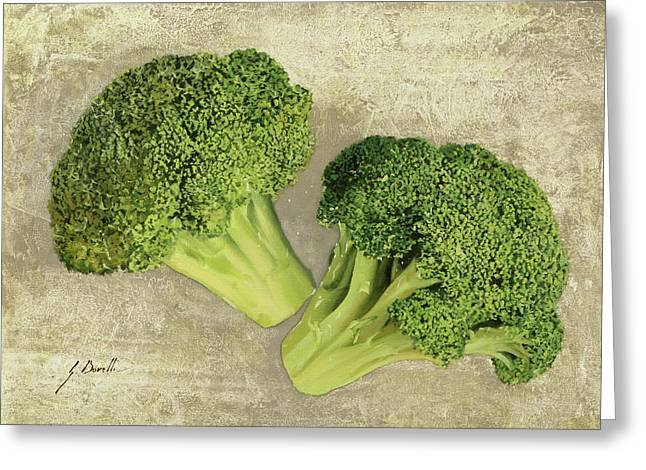 Due Broccoletti Greeting Card by Guido Borelli