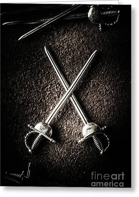 Duel To The Death Greeting Card by Jorgo Photography - Wall Art Gallery