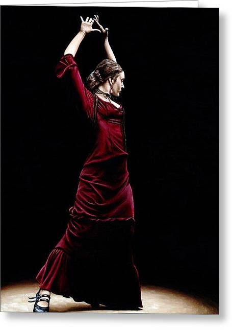 Dancer Art Greeting Cards - Duende Greeting Card by Richard Young