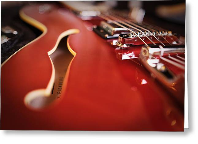 Guitar Strings Greeting Cards - Duesenberg Greeting Card by Rick Berk