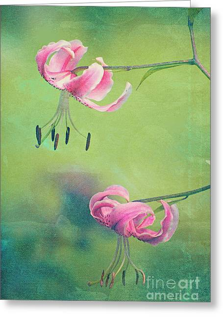 Texture Floral Photographs Greeting Cards - Duet - v01a Greeting Card by Variance Collections
