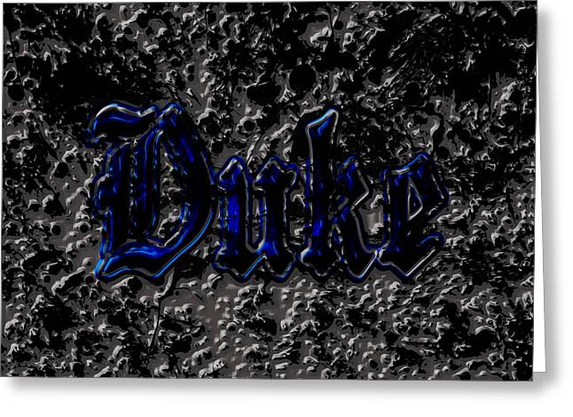 Duke Blue Devils 1d Greeting Card by Brian Reaves
