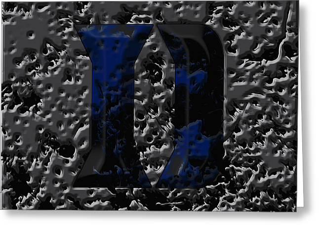 Duke Blue Devils 1e Greeting Card by Brian Reaves