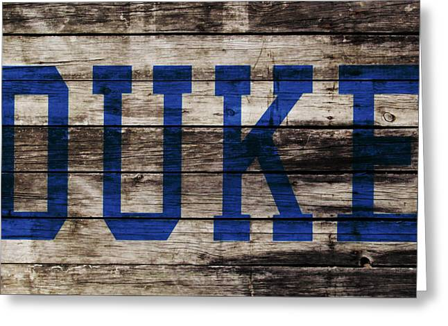 Duke Blue Devils 5a Greeting Card by Brian Reaves