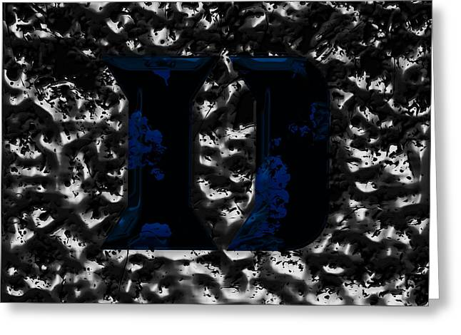Duke Blue Devils  Greeting Card by Brian Reaves