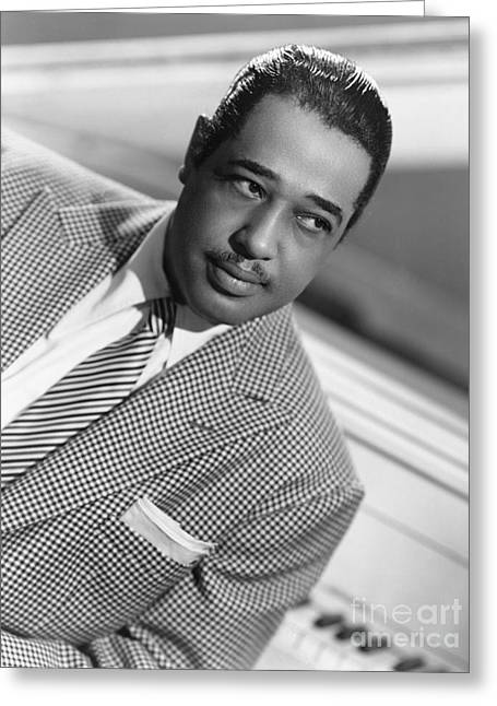 Pianist Photographs Greeting Cards - Duke Ellington (1899-1974) Greeting Card by Granger