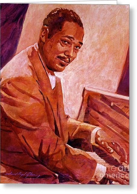Duke Ellington Greeting Card by David Lloyd Glover