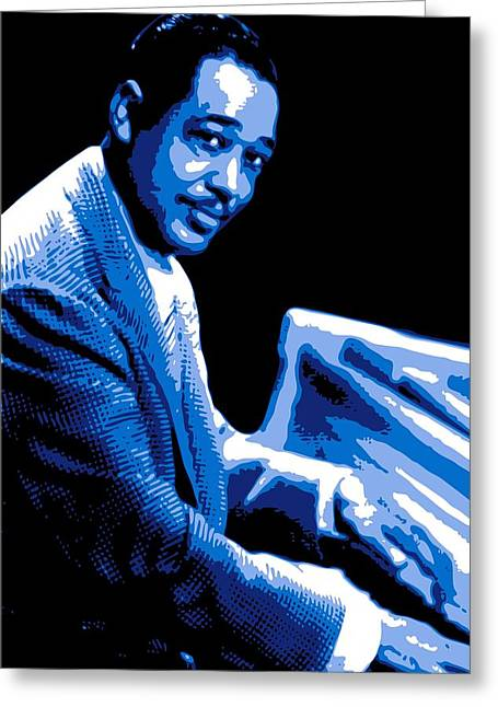 Big Band Greeting Cards - Duke Ellington Greeting Card by DB Artist