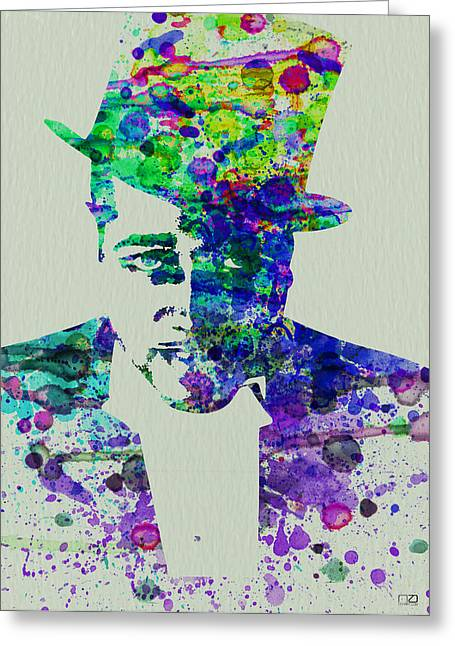 Duke Greeting Cards - Duke Ellington Greeting Card by Naxart Studio