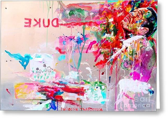 Ellington Greeting Cards - Duke Greeting Card by Massimo Chioccia and Olga Tsarkova