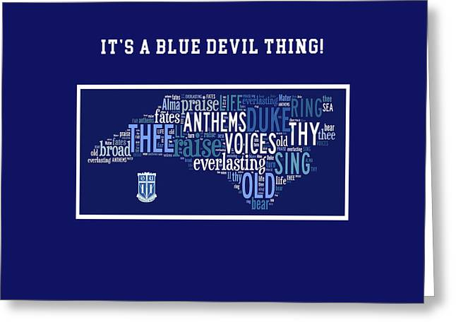 Duke University Alma Mater Products Greeting Card by Paulette B Wright