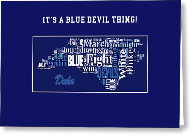 Duke University Fight Song Products Greeting Card by Paulette B Wright