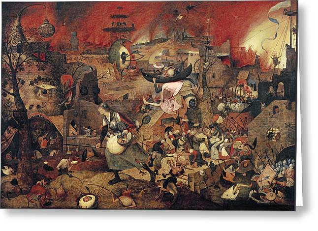 Dull Gret Greeting Card by Pieter the Elder Bruegel