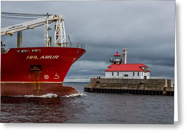 Duluth Harbor Greeting Card by Paul Freidlund