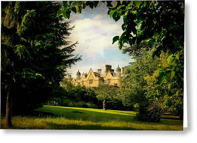 The Houses Greeting Cards - Dumbleton Manor  Greeting Card by Jason Williams