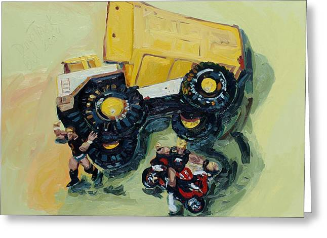 Dump Truck Greeting Card by Eul Hurley