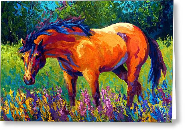 Equine Greeting Cards - Dun Mare Greeting Card by Marion Rose
