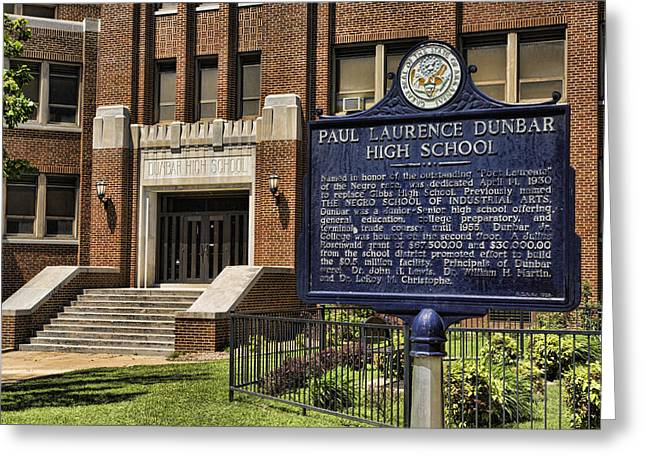 Laurence Greeting Cards - Dunbar HIgh School - Little Rock Greeting Card by Stephen Stookey