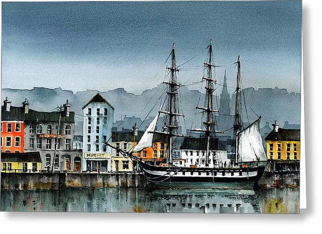 Famines Greeting Cards - Dunbrody in New Ross Greeting Card by Val Byrne