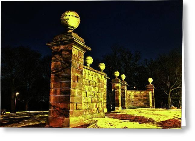 Dundurn Castle Entance Greeting Card by Larry Simanzik