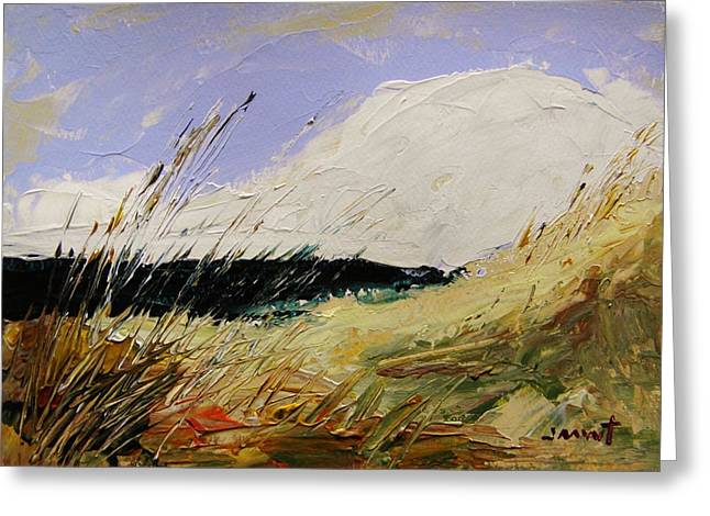 John M. Williams Drawings Greeting Cards - Dune Grasses Greeting Card by John  Williams