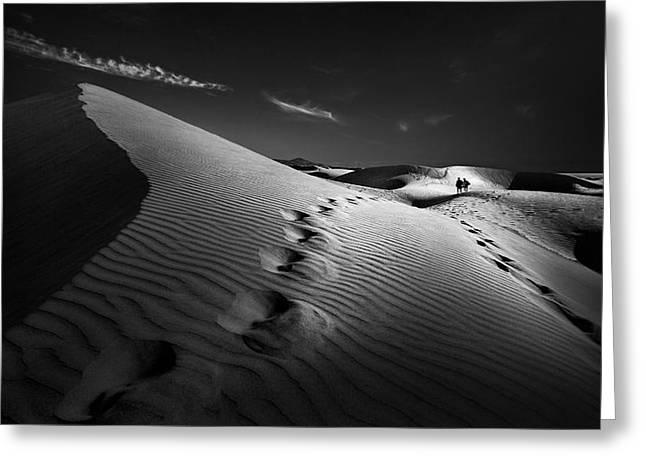 Dune Path Greeting Card by Kerstin Arnemann
