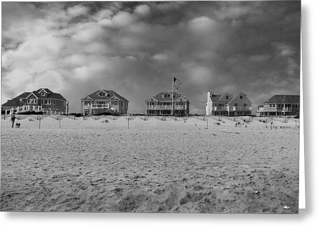 Dune Road Bw Greeting Card by Laura Fasulo