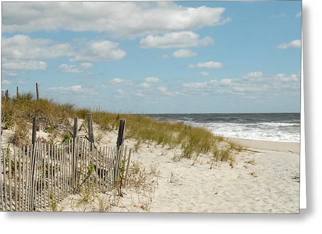 Kids Swimming At Beach Greeting Cards - Dunes 1 Greeting Card by Joyce StJames