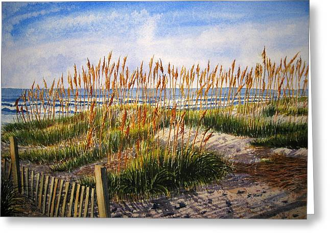 Sea Oats Greeting Cards - Dunes at Dawn Greeting Card by Shirley Braithwaite Hunt