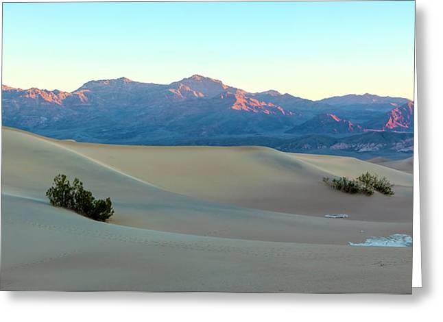 Sand Patterns Greeting Cards - Dunes At Sunrise Greeting Card by Jonathan Nguyen