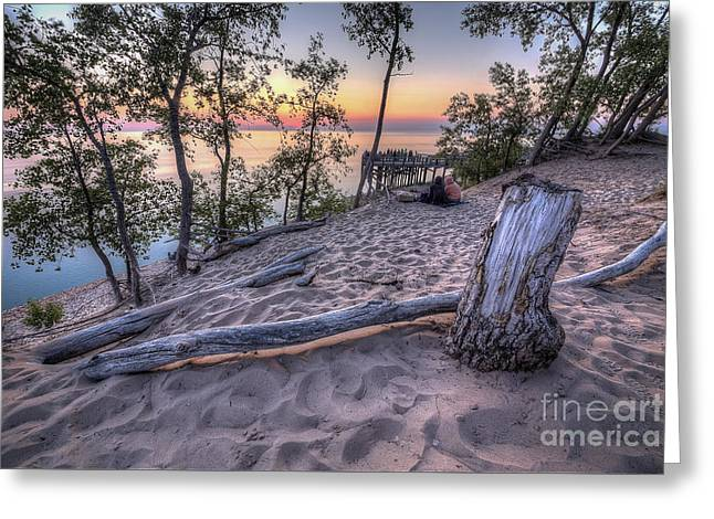 Scenic Drive Greeting Cards - Dunes Sunset Greeting Card by Twenty Two North Photography