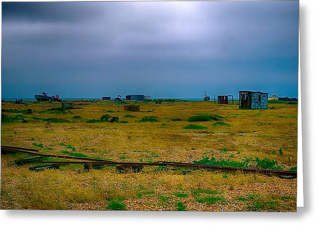 Out-building Greeting Cards - Dungeness wasteland Greeting Card by Sharon Lisa Clarke