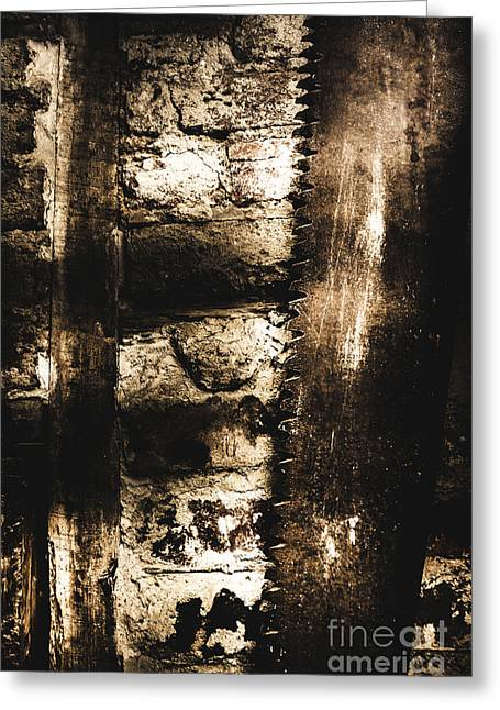 Dungeon Saw  Greeting Card by Jorgo Photography - Wall Art Gallery